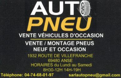 Encart annonceur Auto pneu