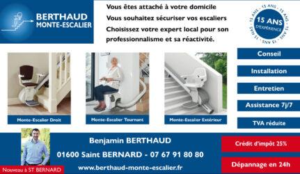 Encart annonceur Berthaud monte-escalier