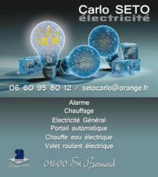 Encart annonceur Carlo Seto électricité