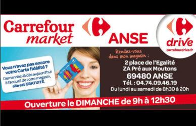 Encart annonceur Carrefour market Anse