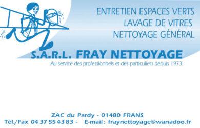 Encart annonceur Fray Nettoyage