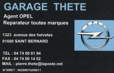 Encart annonceur Garage Thete